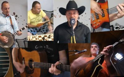 Virtual band s Peťo Mečiarem – Lonesome River Band cover